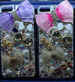 Swarovski crystal cases Bling Bowknot diamond cover for iPhone 6 Plus - Purple