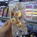 Swarovski crystal cases Bling Flower Swan diamond cover for iPhone 6 Plus - Gold