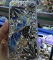 Swarovski crystal cases Bling Flowers diamond cover skin for iPhone 6 Plus - White