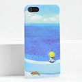 Ultrathin Matte Cases Sea girl Hard Back Covers for iPhone 6 Plus - Blue