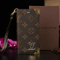 Unique LV Louis Vuitton Flower Leather Flip Cases Holster Covers For iPhone 6 Plus - Brown