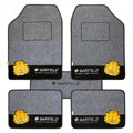Brand Cute Cartoon Garfield Universal Automobile Carpet Car Floor Mat Velvet 5pcs Sets - Grey