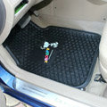Classic Snoopy Cartoon Latex Universal Caravan Carpet Car Floor Mats Rubber 5pcs Sets - Black