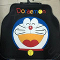 Cute Doraemon Universal Automobile Protector Carpet Car Floor Mat Rubber Heart 5pcs Sets - Blue