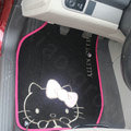 Hello Kitty Universal Automobile Carpet Car Floor Mat Velvet Bow 5pcs Sets - Red