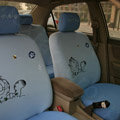High Quality Cartoon Garfield Universal Cotton Cloth Auto Car Seat Cover 10pcs Sets - Blue