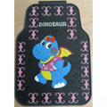 Novelty Dinosaur Cartoon Latex Universal Vehicle Carpet Car Floor Mats Rubber 5pcs Sets - Pink
