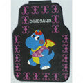 Novelty Dinosaur Cartoon Latex Universal Vehicle Carpet Car Floor Mats Rubber 5pcs Sets - Purple