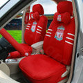 OULILAI Liverpool Football Universal Automobile Car Seat Cover Sandwich 18pcs Sets - Red