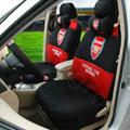 Safety first FC Arsenal Universal Automobile Cars Seat Covers Sandwich Fabric 18pcs Sets - Black