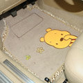 Sale Winnie the Pooh Lace Universal Novelty Carpet Car Floor Mats Plush 5pcs Sets For Girls - Beige