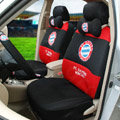 Unique FC Bayern Munchen Universal Automobile Cars Seat Covers Sandwich Fabric 18pcs Sets - Black