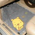 Winter Winnie the Pooh Lace Universal Anti Slip Carpet Disney Car Floor Mats Plush 5pcs Sets - Grey