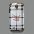 Burberry leather Case Hard Back Cover shell for Samsung Galaxy Note 4 N9100 - White