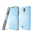 IMAK R64 lines leather Case support Holster Cover for Samsung Galaxy Note 4 N9100 - Blue