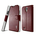 IMAK R64 lines leather Case support Holster Cover for Samsung Galaxy Note 4 N9100 - Coffee