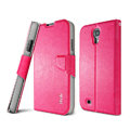 IMAK R64 lines leather Case support Holster Cover for Samsung Galaxy Note 4 N9100 - Rose