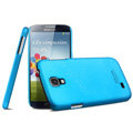 IMAK Ultrathin Matte Color Cover Hard Case for Samsung Galaxy Note 4 N9100 - Blue (High transparent screen protector)