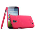 IMAK Ultrathin Matte Color Cover Hard Case for Samsung Galaxy Note 4 N9100 - Rose (High transparent screen protector)