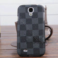 LV LOUIS VUITTON Classic plaid leather Case Hard Back Cover for Samsung Galaxy Note 4 N9100 - Gray