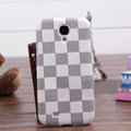 LV LOUIS VUITTON Classic plaid leather Case Hard Back Cover for Samsung Galaxy Note 4 N9100 - White