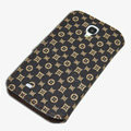 LV LOUIS VUITTON leather case button Holster cover for Samsung Galaxy Note 4 N9100 - Coffee