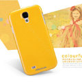 Nillkin Colourful Hard Case Skin Cover for Samsung Galaxy Note 4 N9100 - Yellow (High transparent screen protector)