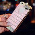 Beautiful Swarovski Bling Rhinestone Case Fox Fur ball Diamond Cover for iPhone 6 - Pink