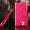 Bling Diamond LV folder leather Case Book Flip Mirror Holster Cover for Samsung Galaxy NoteIII 3 - Rose