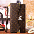 Classic LV Floral High Quality Leather Flip Cases Holster Covers for iPhone 6 - Brown