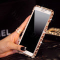 Classic Swarovski Bling Metal Bumper Frame Case Diamond Cover for Samsung Galaxy Note 4 N9100 - Champagne