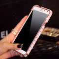 Classic Swarovski Bling Metal Bumper Frame Case Diamond Cover for Samsung Galaxy Note 4 N9100 - Pink