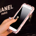 Classic Swarovski Bling Metal Bumper Frame Case Diamond Cover for Samsung Galaxy S5 i9600 - Pink