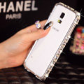 Classic Swarovski Bling Metal Bumper Frame Case Diamond Cover for Samsung Galaxy S5 i9600 - White