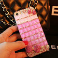 Funky Swarovski Bling Rhinestone Case Bowknot Diamond Cover for iPhone 6 - Rose