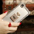 Pretty Swarovski Bling Crystal Perfume Bottle Bumper Frame Case Cover for iPhone 6 - White