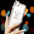 Pretty Swarovski Bling Crystal LV Bumper Frame Case Cover for iPhone 6 - White