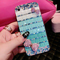 Pretty Swarovski Bling Rhinestone Case Bowknot Cover for iPhone 6 Plus - Green