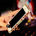 Pretty Swarovski Bling Rhinestone Metal Bumper Frame Case Cover for iPhone 6 - Champagne