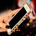 Pretty Swarovski Bling Rhinestone Metal Bumper Frame Case Cover for iPhone 6 Plus - Champagne