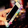 Pretty Swarovski Bling Rhinestone Metal Bumper Frame Case Cover for iPhone 6 Plus - Multicolour