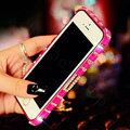 Pretty Swarovski Bling Rhinestone Metal Bumper Frame Case Cover for iPhone 6 Plus - Rose