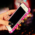 Pretty Swarovski Bling Rhinestone Metal Bumper Frame Case Cover for iPhone 6 - Rose