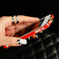 Swarovski Bling Crystal Metal Bumper Frame Case Cover for iPhone 6 - Gold Red