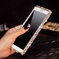 Swarovski Bling Metal Bumper Frame Case Diamond Cover for Samsung GALAXY Note III 3 N9000 - Color White