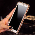 Swarovski Bling Metal Bumper Frame Case Diamond Cover for Samsung GALAXY S4 I9500 SIV - Champagne