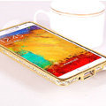 Swarovski Bling Metal Bumper Frame Case Diamond Cover for Samsung Galaxy Note 4 N9100 - Gold