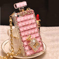 Unique Swarovski Bling Rhinestone Case Perfume Bottle Cover for iPhone 6 - Pink