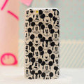 Cartoon Cover Disney Mickey Mouse Silicone Cases Skin for iPhone 6 Plus 5.5 - Black