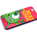 Cartoon Cover Disney Mike Wazowski Silicone Cases Skin for iPhone 6 Plus 5.5 - Red